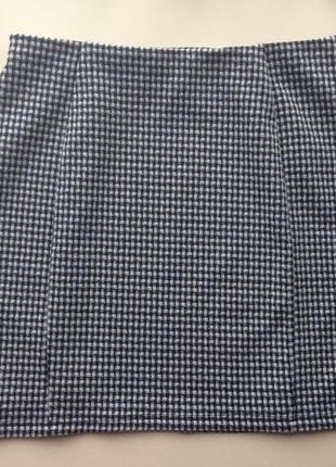 Короткая клетчатая юбка от papaya, размер 48/14