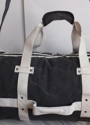 Дорожная спортивная вместительная сумка happy travel gray 62х26х26 см унисекс