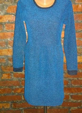 Буклированое платье с рукавом topshop