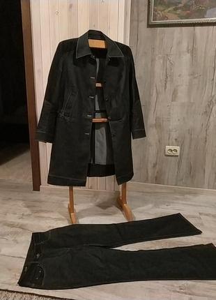 Костюм джинсовый черный