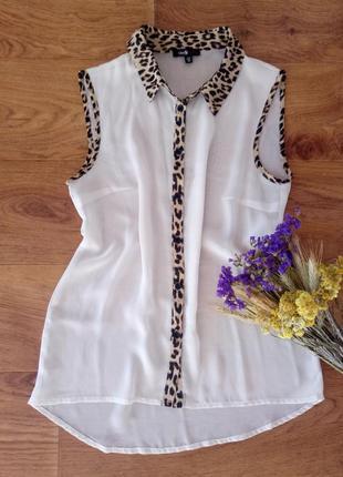 Лёгкая шифоновая блуза oodji