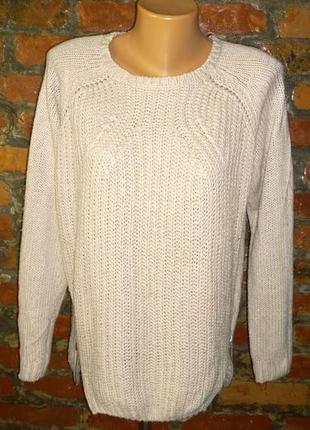 Свитер пуловер джемпер фактурной вязки с молниями debenhams
