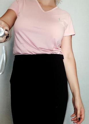 Розовая футболка ralph lauren 12-14/ l