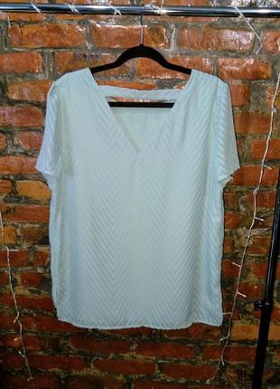 Свободный топ блуза с вышивкой нежного мятного оттенка tu