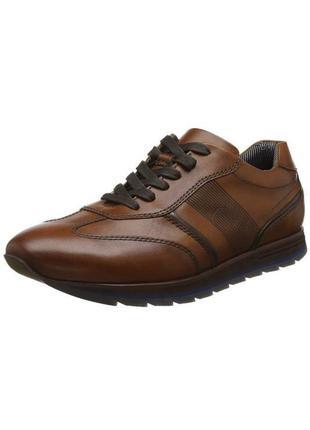 Мужские коричневые кроссовки daniel hechter {германия} рыжие