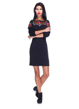 Платье с вышивкой и актуальными рукавами my monday с биркой!