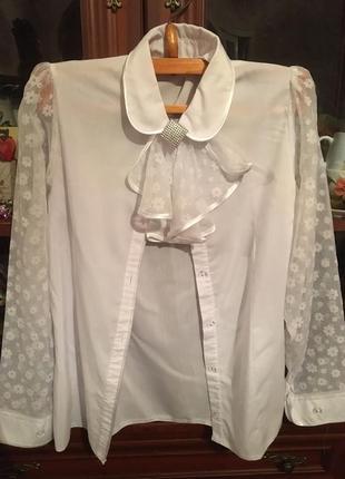 Сорочка (із комірцем) для дівчат; сарафан шкільний