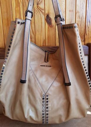 Бомбезная, огромная, шикарная сумка karen millen!