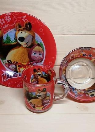 Набор маша и медведь 3 предмета