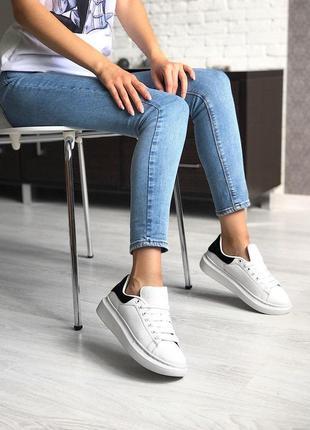 Стильные кроссовки alexander mcqueen в белом цвете (весна-лето-осень)😍