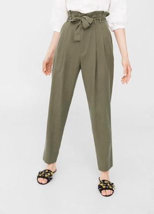 Зауженные брюки с  поясом mango