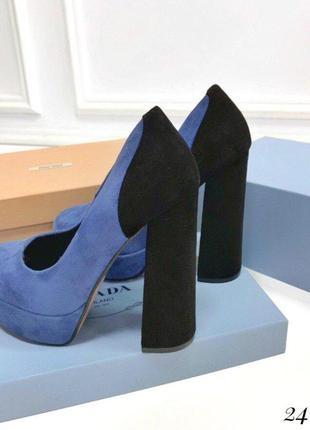 Экслюзивные замшевые туфли на высоком каблуке качество люкс