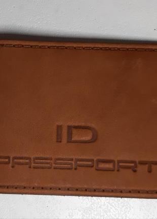 Чехол обложка на id-паспорт 100 % кожа
