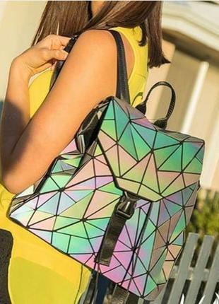 Школьный рюкзак бао бао,bao bao,хамелеон,голографический,неоновый, люминесцентный