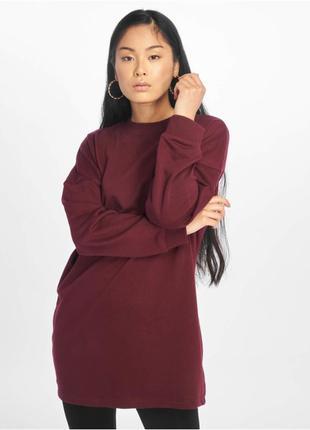 Объемное платье свитер, свитшот винного оттенка