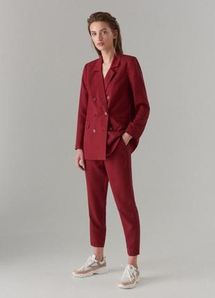 Новый! бордовый костюм mohito двубортный пиджак и брюки