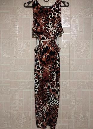 Сексуальное платье в леопардовый принт, asos 38р.