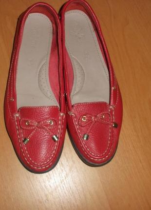 Кожаные балетки туфли мокасины footglove  /р 39