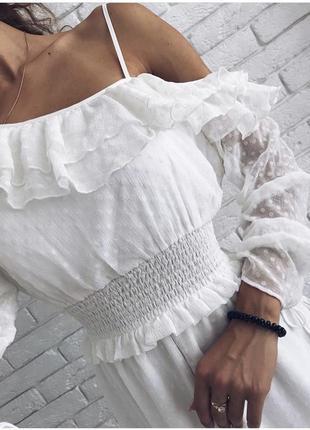 Неймовірно ніжна сукня з рюшами, нова!
