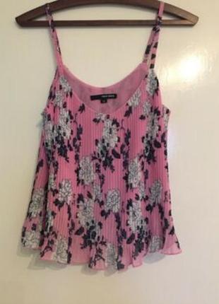 Легкая блуза майка топ плиссировка