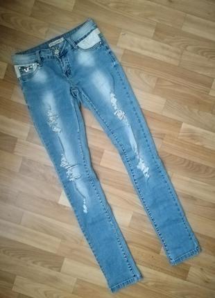 Классные джинсы с высокой посадкой2 фото
