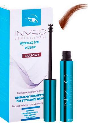 Avenir cosmetics inveo ultimatimate cosmetics тушь для бровей, коричневая (наполнитель)