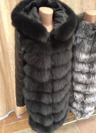 Куртка трансформер песец кожа