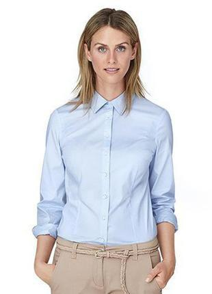 Стрейчевая голубая рубашка р. евро 40 l tcm tchibo германия