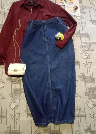 Стильная джинсовая юбка, размер 18-20