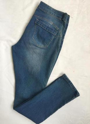 Супер джинсы жен зауженные стреч 2xl (52)