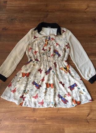 Шифоновое платье на осень