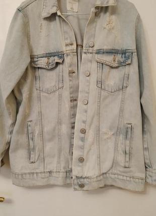Удлиненная куртка house denim wear