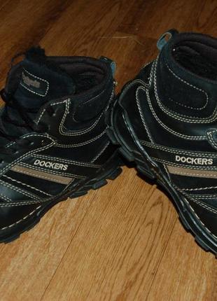 Кожаные ботинки на меху 42-42,5 р dockers отличное состояние