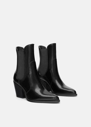 Срочно продам стильные ковбойские ботинки zara (последняя коллекция, новые). торг