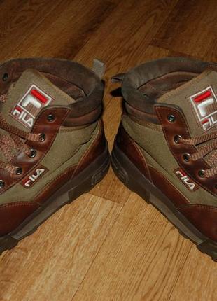 Кожаные утеплённые ботинки 43 р fila оригинал