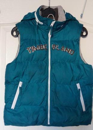 Timberland оригинал детская куртка безрукавка пуховик теплая осенняя для мальчика флисовая