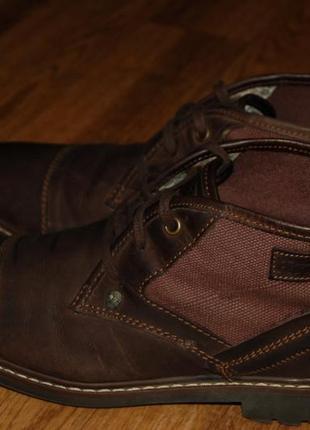 Кожаные ботинки 42-43 р firetrap хорошее состояние