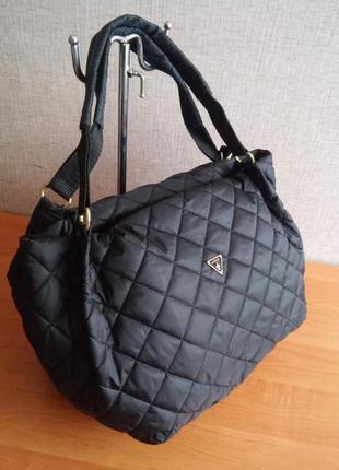 Модная стеганная сумка-торба
