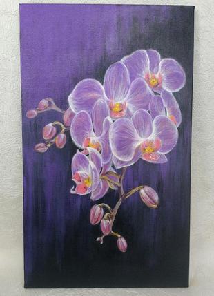 Картина акриловыми красками орхидея