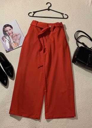 Стильные брюки кюлоты, размер xs