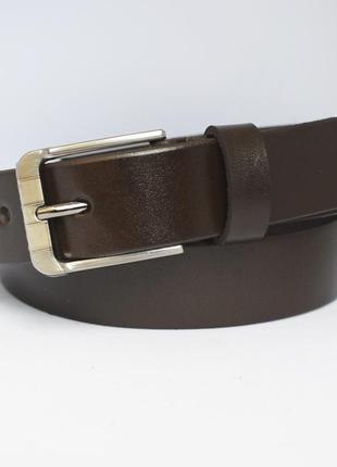 Buddy3 ремень коричневый пояс детский подростковый кожаный для мальчика школьника кожа