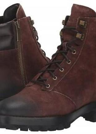 Стильные ботинки со шнуровкой на грубой подошве