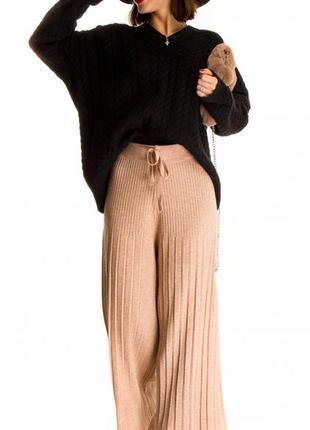 Женские трикотажные брюки-кюлоты  fashion style (италия) размер универсальный