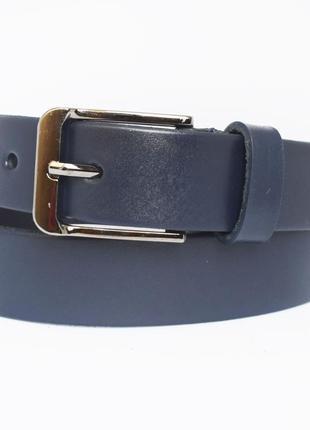 Sailer3 ремень детский подростковый синий кожаный для мальчика школьника кожанный пояс