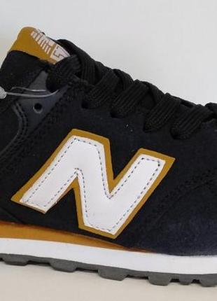 New balance 574 classic демисезонные кожаные кроссовки
