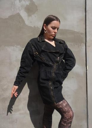 Винтажное джинсовое платье по фигуре 80е alaia