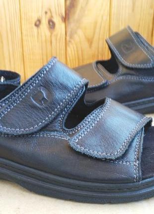 Кожаные комфортные сандалии босоножки natureform