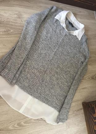 Платье теплое под низом с блузкой dorothy perkins