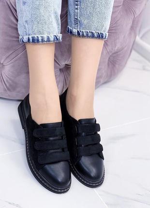 Новые женские черные туфли лоферы балетки