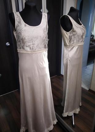 Уникальное привлекательное платье лен + шелк
